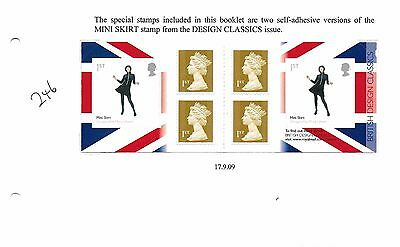2009 (246) PM20 6 X 1st DESIGN CLASSIC (SKIRT) WALSALL UNMOUNTED MINT ALBUM PAGE