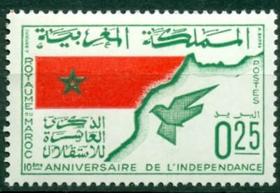 Morocco Scott #139 MNH Flag Map and Dove $$