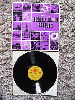 BBC Records BBC Stereo Sound Effects No.7 Archive 1971 Vinyl LP Library RED 113S