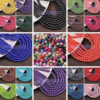4mm/6mm/8mm Round Glass Coated Colors Loose Spacer Seed Beads