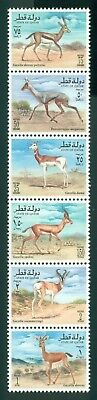 Qatar Scott #870 MNH Gazelles Fauna STRIP of 6 CV$10+