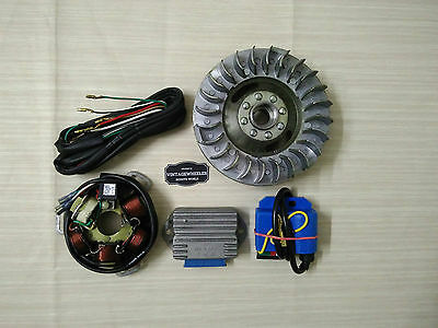 Lambretta Gp Electronic Kit. 12 Volt. Lightend Flywheel. Cdi - Reg - Wire. New