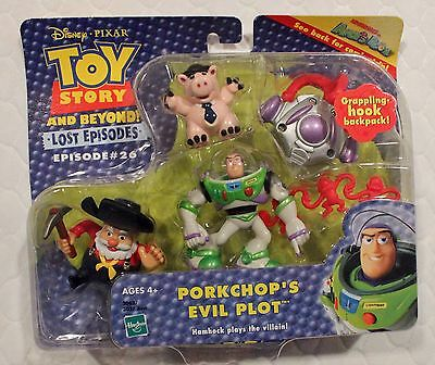 Toy Story PORKCHOP'S EVIL PLOT (with Stinky Pete!) Action figure set!