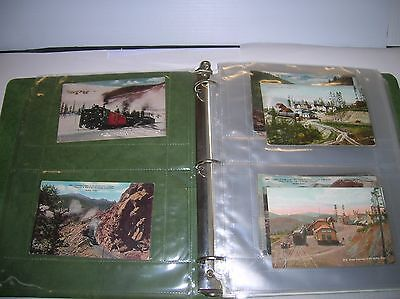 Railroad Post Cards of Colorado early 1900's (46 new 18 used ) lot # 10750