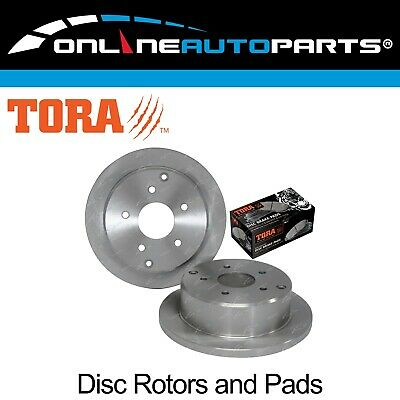 2 Rear Disc Brake Rotors + Pads Commodore VT VX VU VY VZ Holden Sedan Wagon Ute