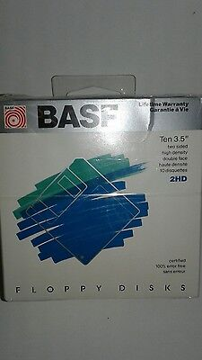 BASF Two Sided High Density Double Face Floppy Disks 10 Pack