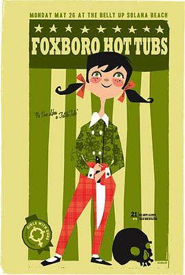 Scrojo Foxboro Hot Tubs (Green Day) Girls With Guns Belly Up Poster Foxboro_0805