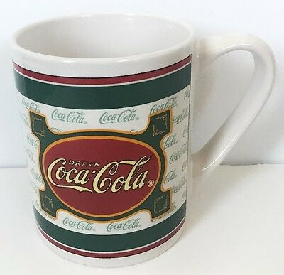 Drink Coca Cola Retro Style Coffee Mug Cup Coke Collectible Green White Red