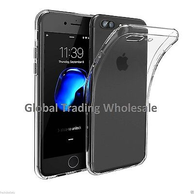 Wholesale Job Lot x100 Bulk Clear Gel TPU Thin Cases for iPhone 7 Plus New UK