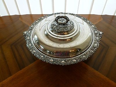 Vintage silver Forbes covered serving dish with insert