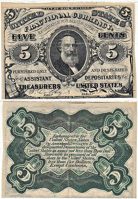 5 Cents 3rd Issue Fractional Currency F-1238 Very Fine