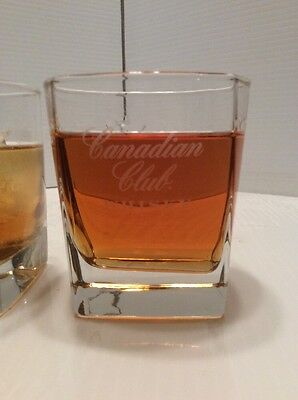 Canadian Club Whisky glasses, Set Of 2