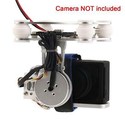 FPV 2 CNC Metal Brushless Gimbal  Controller For DJI Phantom GoPro 3 4 Silver Pu