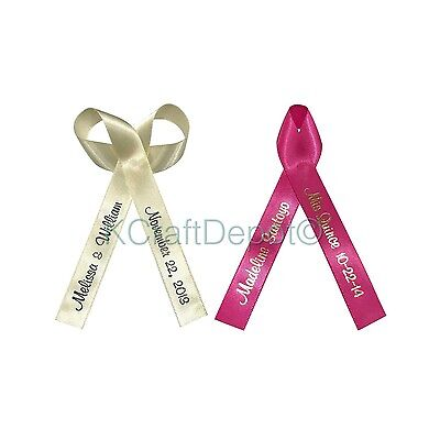 "200 Personalized Ribbons 5/8""(16mm) Wedding Birthday Party Baby Shower Favors"