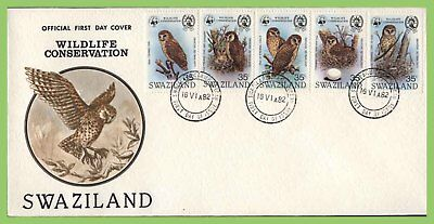 Swaziland 1982 Birds set on First Day Cover