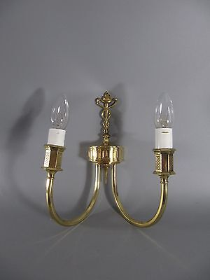 2armiger WANDLEUCHTER Wandlampe Messing - Wall Lamp Brass  /2