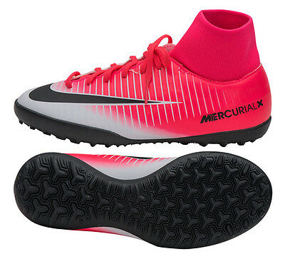 Nike Junior MercurialX Victory DF TURF 903604 601 Kids Soccer Shoes Cleats Boots