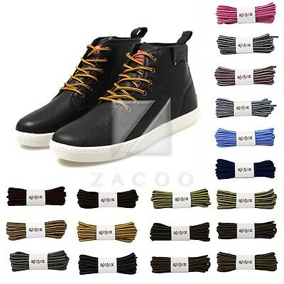 1 Pair Round Rope Shoelaces Outdoor Athletic Shoe Laces 120cm/47in Colour Mixed