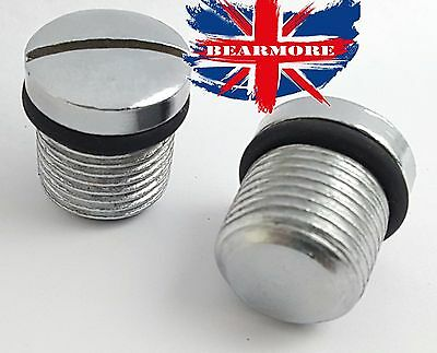 2X FRONT FORK PLUG SCREW O RING ROYAL ENFIELD BULLET 350CC 500CC part no 140553
