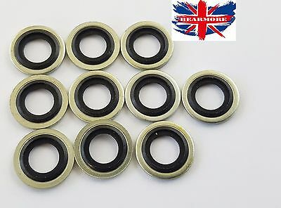 10 x M24 24mm METRIC Bonded Dowty Seal Self Centering Hydraulic Oil Seal Washer