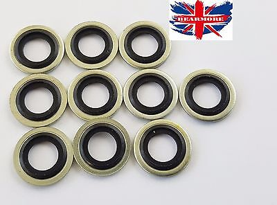 10 x M16 16mm METRIC Bonded Dowty Seal Self Centering Hydraulic Oil Seal Washer