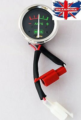 Amp Meter Ampere Guage Black Dial For Royal Enfield Bullet @uk