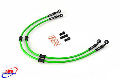 Kawasaki Zx12R Zx 12 R 2000-06 As3 Venhill Braided Front Brake Lines Hoses Race