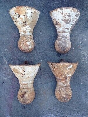 Set of 4 Antique Claw Foot Bathtub Bath Tub Feet Cast Iron Vintage Clawfoot