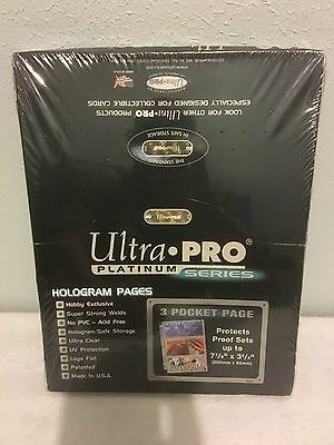 100 ULTRA PRO PLATINUM 3-POCKET Pages Sheets highest Quality Brand New in Box