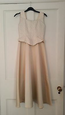 House of Nicholas dress (Gold-Ivory-Age 10-11) Flowergirl, Prom, Party, Pageant