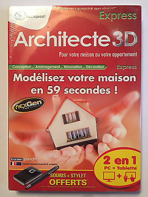 Architecte 3D Express LOGICIEL PC NEUF SOUS BLISTER Windows XP / Vista / 7 / 8