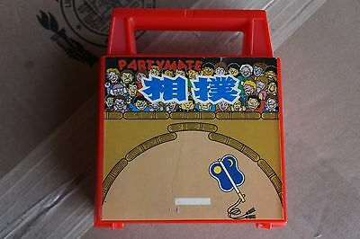 Tomy Wind up Sumo Wrestlers Game 2005 Partymate, Sababa, plastic basho in a box