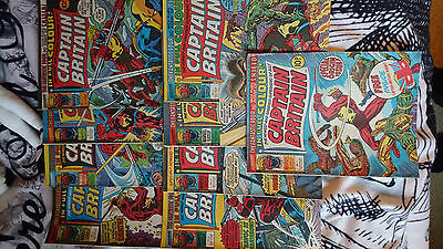 captain britain uk weekly issues 1,2,3,4,5,6,7,8 & 9