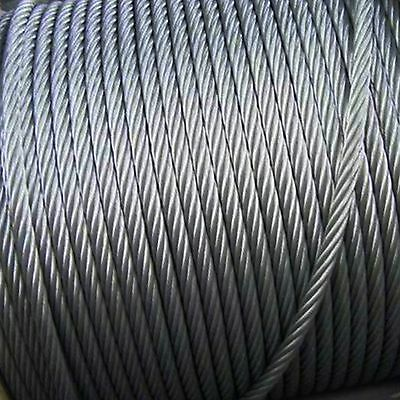 Steel Stainless Rope Wire 3mm 4mm 5mm HEAVY DUTY Cable Line
