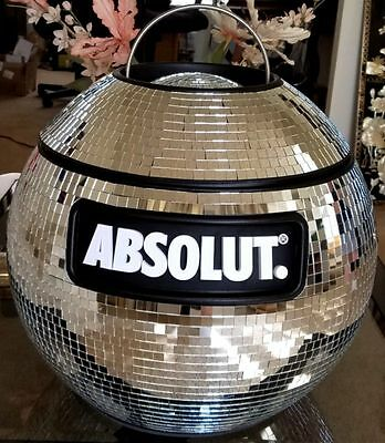 Absolut Vodka Mirrored Disco Ball Cooler BRAND NEW FREE SHIPPING