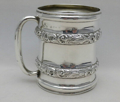 Antique Solid Sterling Silver 1/4 Pint Tankard Mug B'Ham 1908 52 Grs