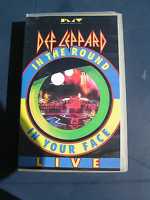 Def Leppard Live - In The Round In Your Face - Vhs