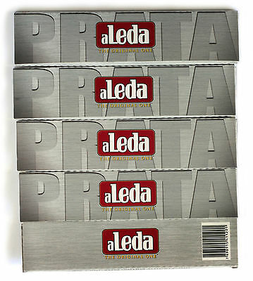 5 booklets - aLeda PRATA King Size Slim - famous paper from Brazil - 165 papers