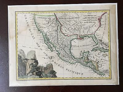 Original 1810 map of Mexico showing Texas California and Florida