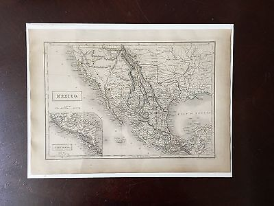 Original 1846 of Mexico showing California and the Republic of Texas