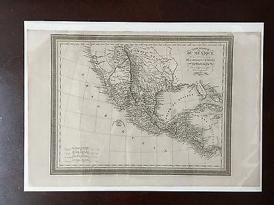 Original 1834 map of Mexico including California Florida and Texas