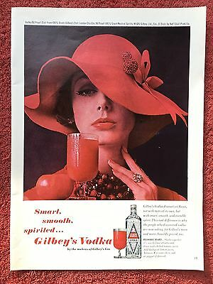 Vintage 1962 Original Print Ad GILBEY'S VODKA & Bloody Mary Recipe ~Smart-Smooth