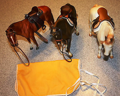 Lot of 3 Custom Saddles Traditional Classic AUTHENTIC BREYER English Western