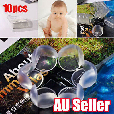 10Pcs Transparent Child Baby Safety Table Corner Edge Protect Cover ON