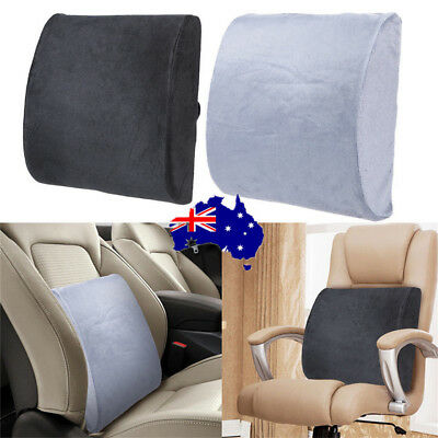 Memory Foam Lumbar Back Support Cushion Pillow Pad Home Office Car Seat Chair ON