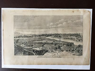Original 1760 city view of Paris