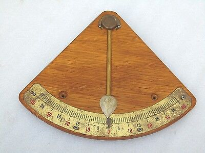 Vintage 10 Inch Brass Wood Ships Boat Yacht Inclination Clinometer Level