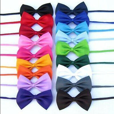 Cute Baby Boy Kids Infant Solid Color Wedding Tuxedo Bowties Bow Tie Neckwear
