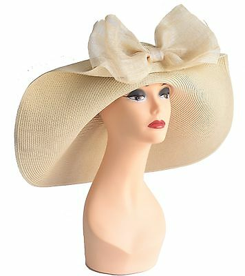 Church Kentucky Derby Carriage Tea Party Wedding Wide Brim Hat Nature