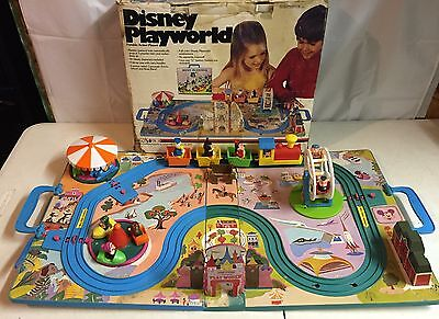 Vtg 60s Walt Disney FoldAway Playworld Train track Disneyland playset Parts